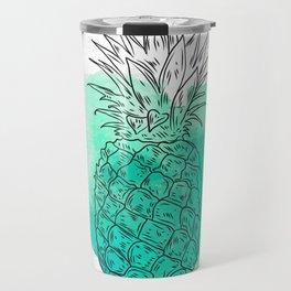 Turquoise Pineapple , pink Pineapple , tropical , hawaii , summer , fruit , Travel Mug
