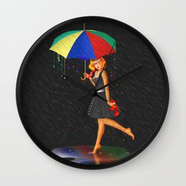 My life is colorful Wall Clock