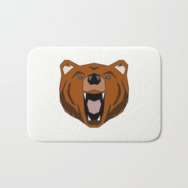 Geometric Bear - Abstract, Animal Design Bath Mat