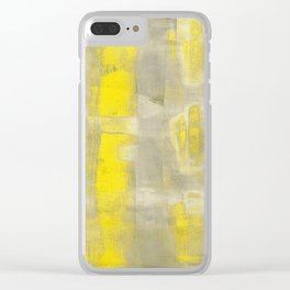 Stasis Gray & Gold 2 Clear iPhone Case