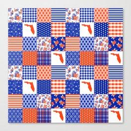 Florida University gators swamp life varsity team spirit college football quilted pattern gifts Canvas Print