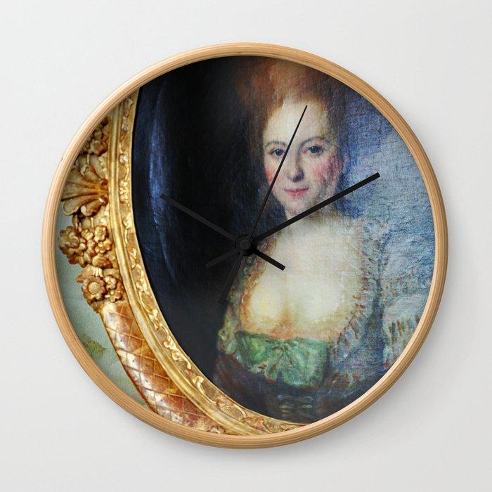 Roccoco Apple blossom Wall Clock