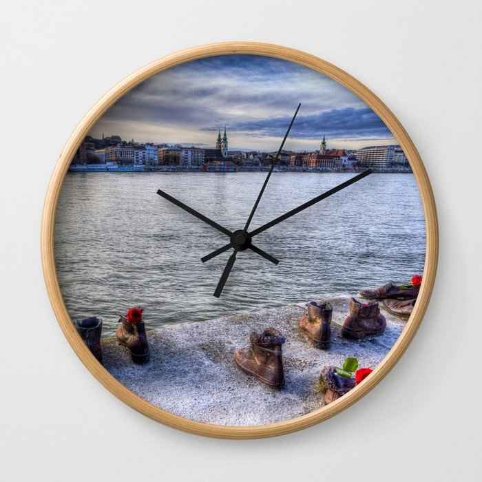 Shoes On The Danube Wall Clock