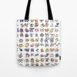 Pokémans! 151 Lazy-Drawn Pocket Monsters ( Tote Bag