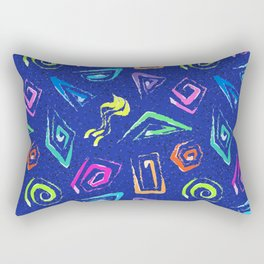 Surf Spiral Shapes in Neon Periwinkle Rectangular Pillow