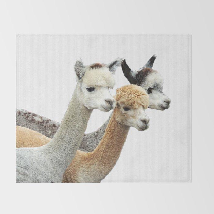 Alpaca Trio Throw Blanket