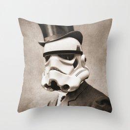 Portrait of a Sir Stormtrooper Throw Pillow