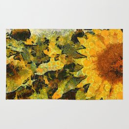 VG style fields of sunflowers Rug