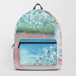 White Tree Illustration Art Backpack