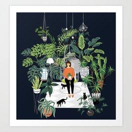 dark room print Art Print
