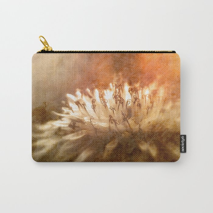 Burning Autumn Flower Carry-All Pouch