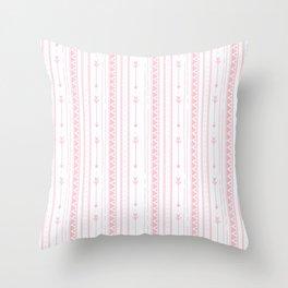 Blush pink white bohemian arrows zigzag geometrical Throw Pillow