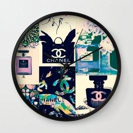 Coco No.5 Fashion Collage Wall Clock