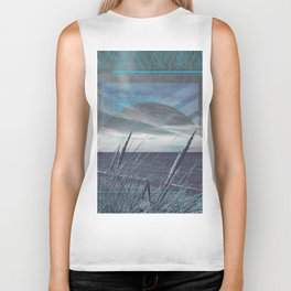 Before the Storm - blue graphic Biker Tank