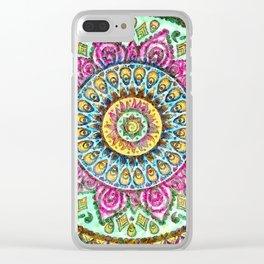 Mandala Technicolor Clear iPhone Case