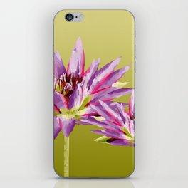 Water Lilies violet green iPhone Skin