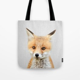Baby Fox - Colorful Tote Bag