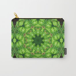 Spring green Canadian Hemlock mandala Carry-All Pouch